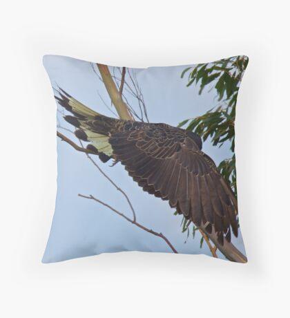 Yellow-tailed Black Cockatoo Throw Pillow