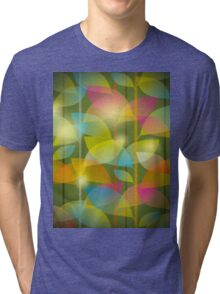 seamless pattern of colored leaves Tri-blend T-Shirt