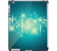 Abstract blue background iPad Case/Skin
