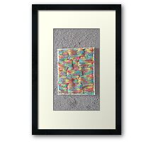 Knitted Art Framed Print