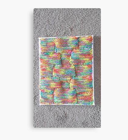 Knitted Art Canvas Print