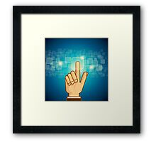 social network structure Framed Print