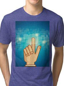 social network structure Tri-blend T-Shirt