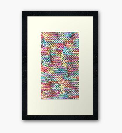 Knitted Art (detail) Framed Print