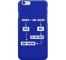 Should I Add Bacon funny nerd geek geeky iPhone Case/Skin