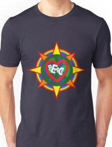 Peace on earth (sun, bird, heart, rainbow, peace sign) Unisex T-Shirt