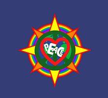Peace on earth (sun, bird, heart, rainbow, peace sign) Womens Fitted T-Shirt