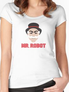 F-Society Mr Robot Women's Fitted Scoop T-Shirt