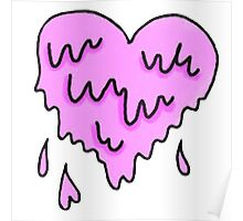 dripping heart  Poster