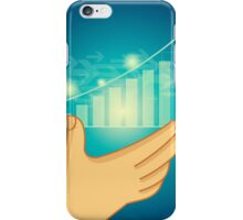 business graph on a glass window iPhone Case/Skin