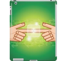 social network structure iPad Case/Skin