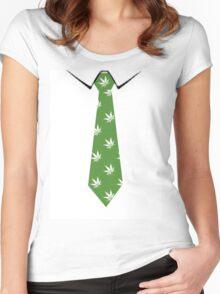 Hemp Neck tie Women's Fitted Scoop T-Shirt