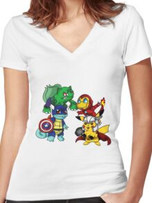Pokemon Women's Fitted V-Neck T-Shirt