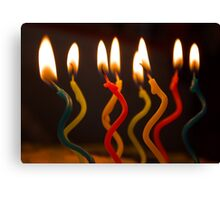 curly candles Canvas Print