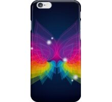 colorful abstract on butterfly shape iPhone Case/Skin
