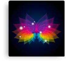 colorful abstract on butterfly shape Canvas Print