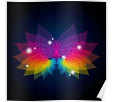 colorful abstract on butterfly shape Poster