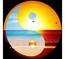 yin and yang ocean  Photographic Print