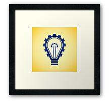 engineering bulb idea Framed Print