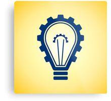 engineering bulb idea Metal Print