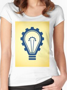 engineering bulb idea Women's Fitted Scoop T-Shirt