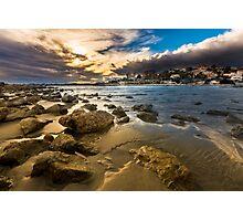 Golden hour at Cala del Morro Blanc Photographic Print