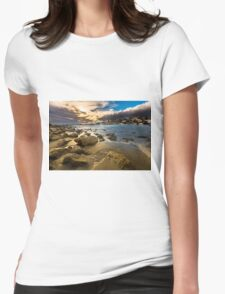 Golden hour at Cala del Morro Blanc Womens Fitted T-Shirt
