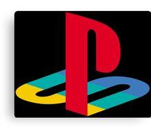 Vintage Playstation Logo Canvas Print