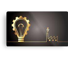environmental bulb idea Metal Print