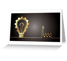 environmental bulb idea Greeting Card