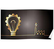 environmental bulb idea Poster