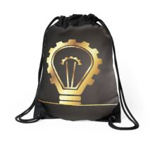 environmental bulb idea Drawstring Bag