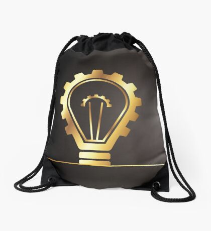 environmental bulb idea Drawstring Bag