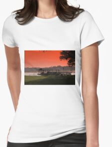 plants and tropical sea landscape Womens Fitted T-Shirt
