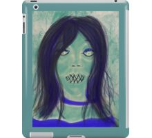 Zombie blue iPad Case/Skin
