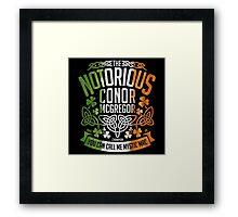 Conor McGregor Crest [TRICOL] Framed Print
