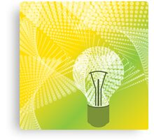 halftone bulb idea Canvas Print