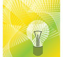 halftone bulb idea Photographic Print