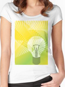 halftone bulb idea Women's Fitted Scoop T-Shirt