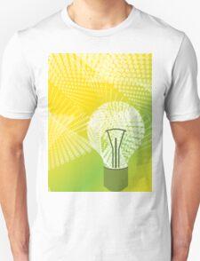 halftone bulb idea Unisex T-Shirt