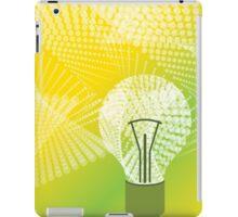 halftone bulb idea iPad Case/Skin