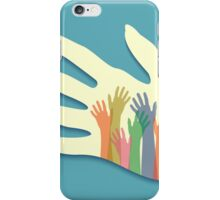 Large group of happy hands iPhone Case/Skin
