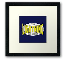 Louis 'Lightning' Lee-Scott NEVER SURRENDER Attire Framed Print