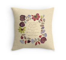 Flowery Valentine's Day Card Throw Pillow