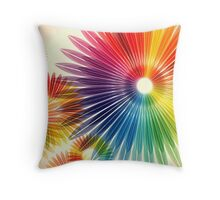 urban colorful abstract Throw Pillow