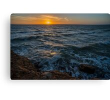Sunset in Sicily Canvas Print