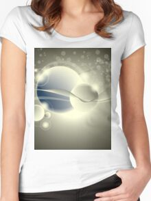 abstract graphics Women's Fitted Scoop T-Shirt