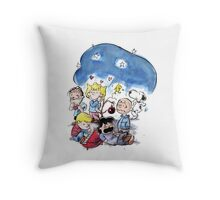 Peanuts in Snow Throw Pillow