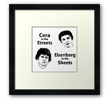 Cera in the Streets, Eisenberg in the Sheets Framed Print
