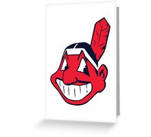 INDIANS CLEVELAND Greeting Card